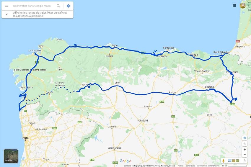 Nord Espagne Itinéraire 1536x1024 2