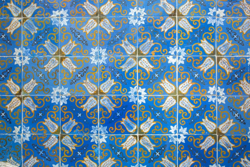 Braga En Van Et Ses Azuleros Bleues