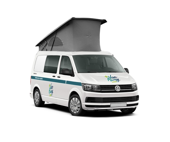 volkswagen 5 berth campervan rental in France